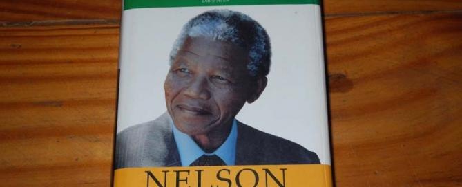 "Above is Nelson Mandela's novel, ""A Long Walk to Freedom."""